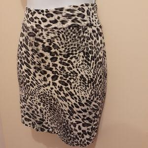 👗3 for $25👚Big Cat Animal Print Mini Skirt CA S